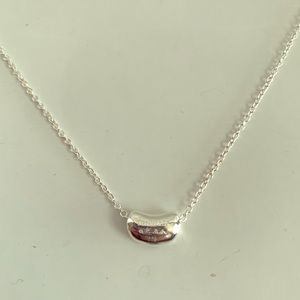 Sterling Silver Bean Necklace - Tiffany Style